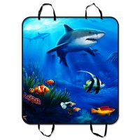 GCKG Sea Shark Fish Corals Underwater Ocean Pet Car Seat Cover Dog Car Seat Mat Hammock Cargo Mat Trunk Mat For Cars Trucks and SUV 54x60 inches