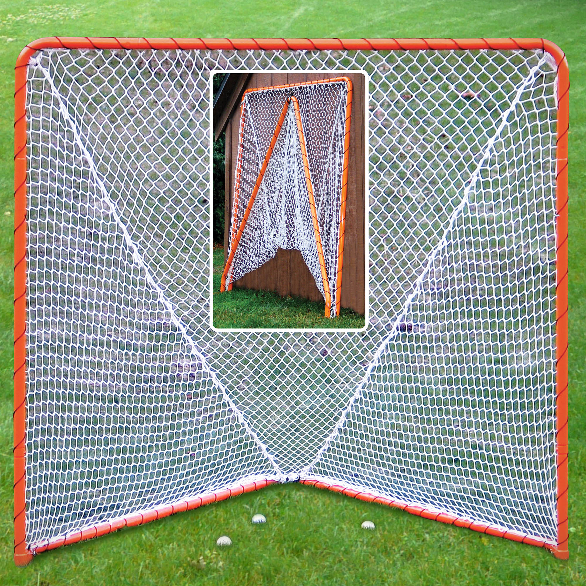 6' x 6' Official Regulation Steel Tube Folding Metal Lacrosse Goal