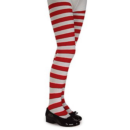 Girls Red And White Striped Tights](Red Striped Tights)