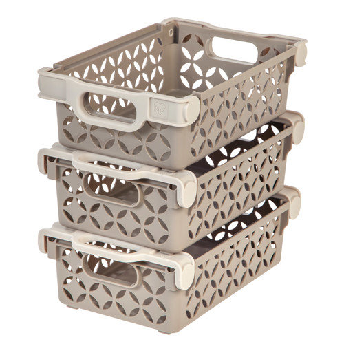 IRIS USA, Inc. Small Decorative Basket (Set of 3)