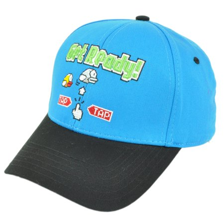 Flappy Bird Get Ready Snapback Video Game Tap Phone Blue Hat Cap Curved