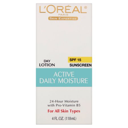 Everyday Protection Face Lotion - L'Oreal Paris Skin Expertise Active Daily Moisture Lotion Suncreen, SPF 15, 4 fl oz
