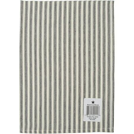 Cream Ticking Stripe Dishtowel 20