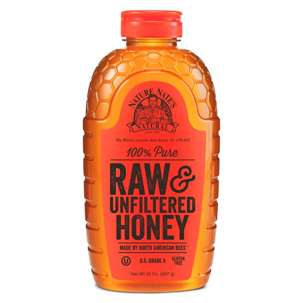 Nature Nate's Honey, 100% Pure, Raw and Unfiltered Honey, 32 oz