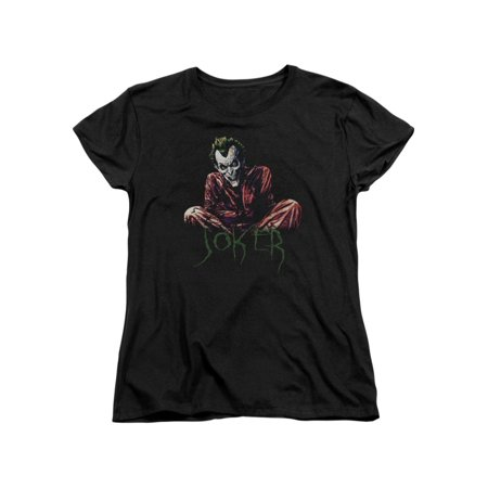 Batman DC Comics Joker Arkham Asylum Straight Jacket Women's T-Shirt Tee