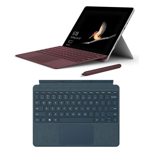 "Microsoft Surface Go 10"" 2-In-1 Tablet, Intel Pentium Gold 4415Y 1.60GHz, 4GB RAM, 64GB eMMC, Windows 10 S, Silver - With Microsoft Surface Go Signatu"