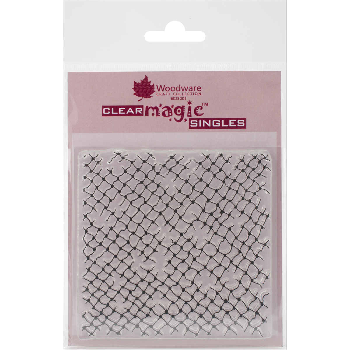 "Woodware Clear Stamps 3.5""X3.5""-Netting Background"