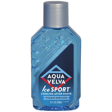 Aqua Velva After Shave, Ice Sport Scent that Cools Skin and is Vitamin Enriched, 3.5 Fluid Ounce Bottle By Scented After Shave