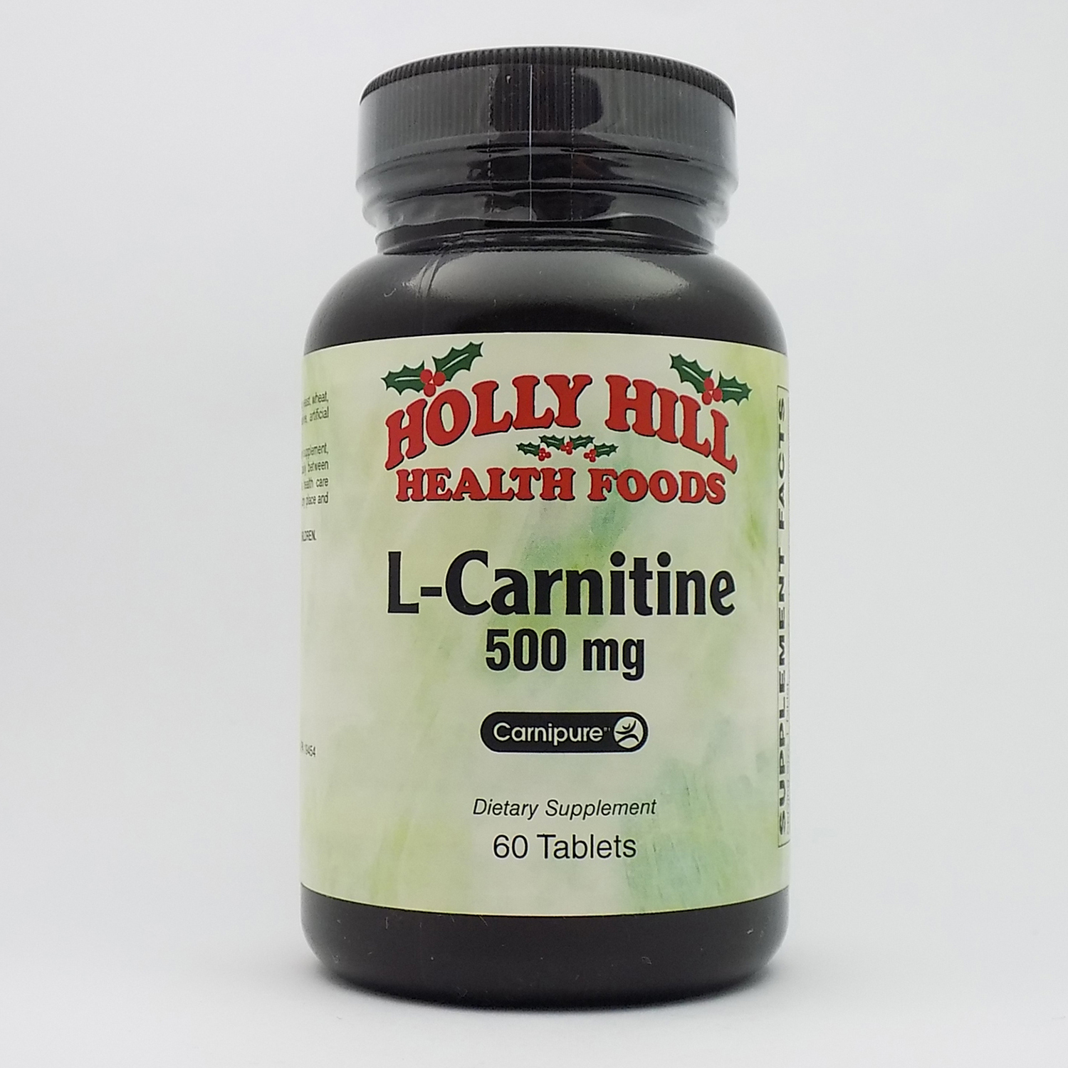Holly Hill Health Foods, L-Carnitine 500 MG, 60 Tablets