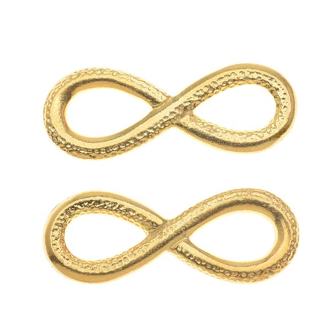 22K Gold Plated Lead-Free Pewter Infinity Connector Link 12x31.5mm (2)