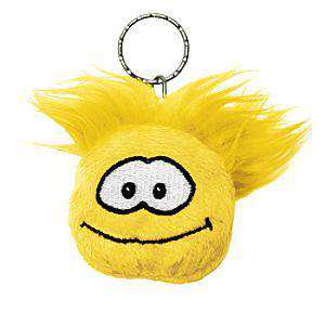 Club Penguin Yellow Puffle Plush Keychain - Club Penguin Halloween Keys
