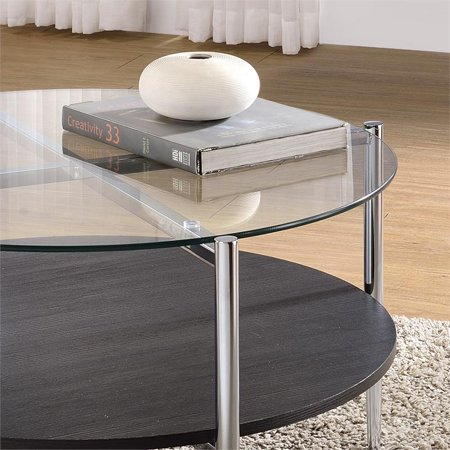 Bayliss Clear Tempered Glass Modern Cocktail Table - image 3 of 3