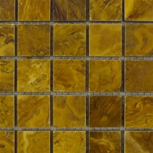 "Multi-Brown Onyx Mosaic Tile 1"" X 1"""