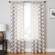 Softline Home Fashions Penby Burnout Rod Pocket Curtain Panel