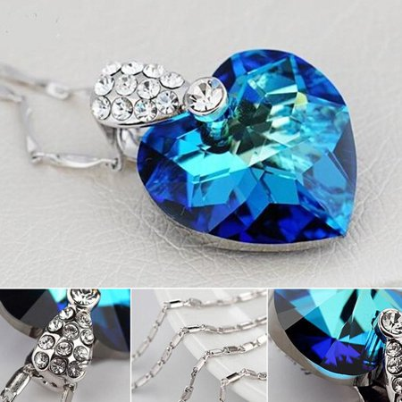 45f5c451 daydayup - Necklace Pendant, Classic Love Heart Of The Ocean Blue ...