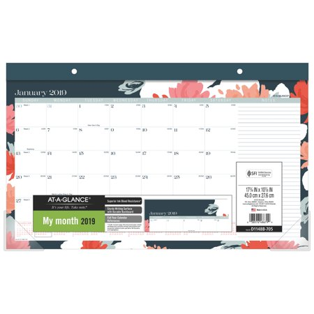 At-A-Glance BADGE Compact Monthly Desk Pad Calendar - Calendars