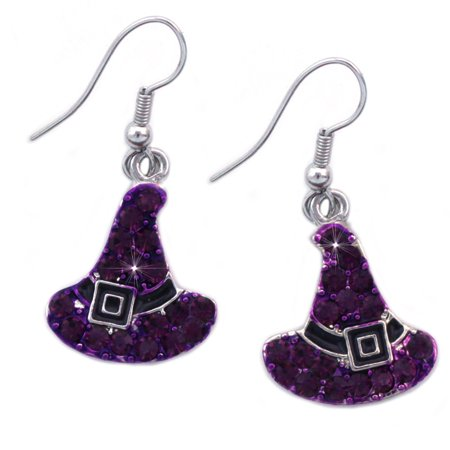 cocojewelry Small Witch Hat Earrings Fall Halloween - Halloween Earrings Ideas