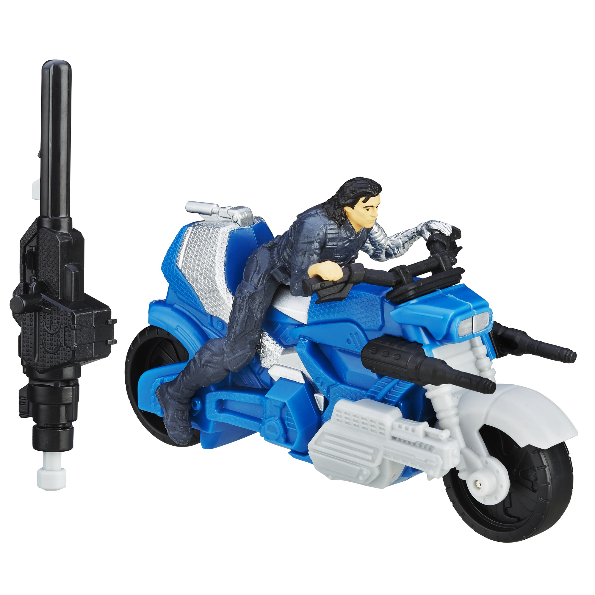 Marvel Captain America: Civil War Winter Soldier with Blast-Action Cycle