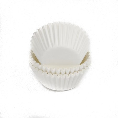 Chef Craft Mini Baking Cups, White, 75 Ct