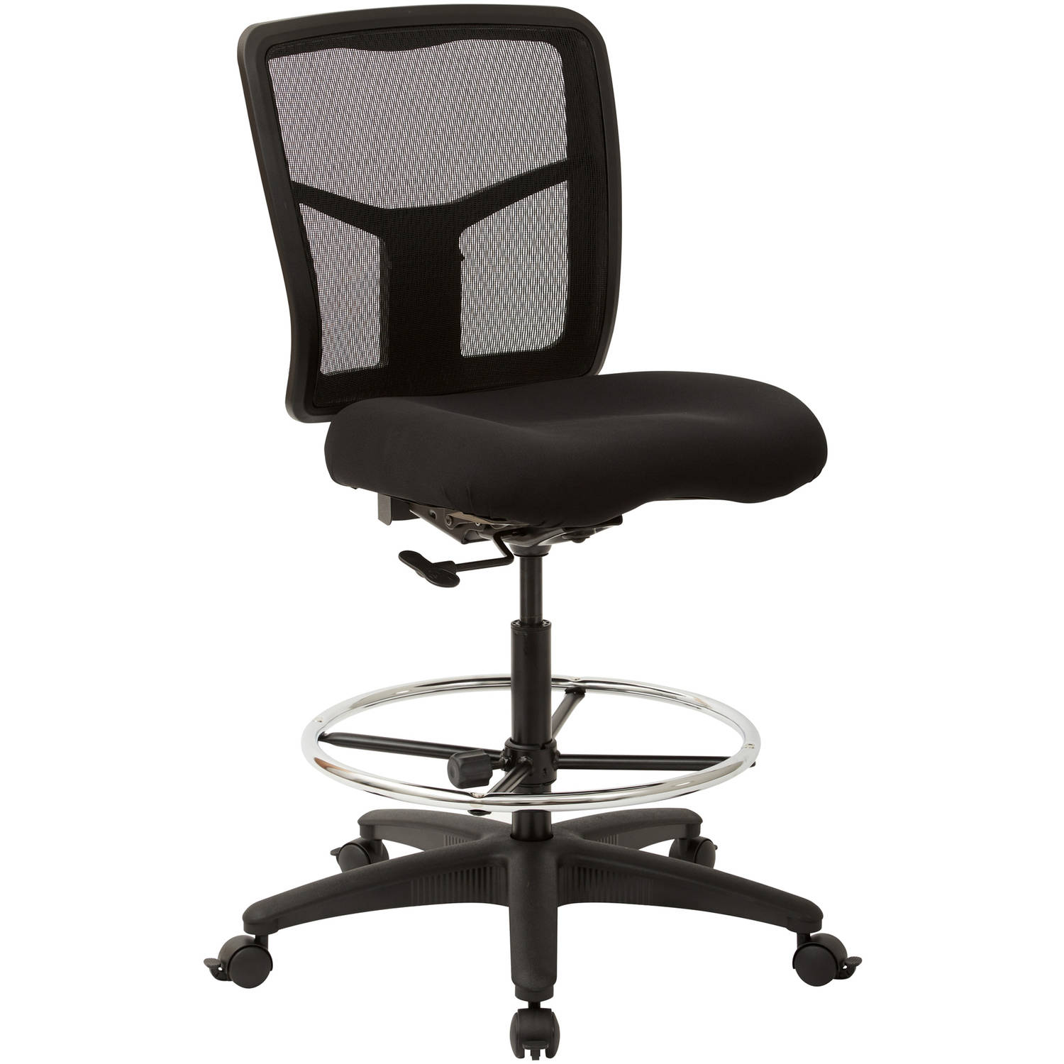 office star progrid mesh drafting chair with adjustable footring and dual wheel locking carpet casters
