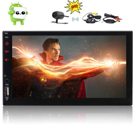 Eincar Android Auto Android 6.0 Car Stereo Double Din with GPS and WIFI, Support Fastboot, Backup Camera, Touch Screen, Mirror Link, USB/SD, AUX, FM/AM RDS Radio Remote Control, 1080P