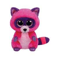 38c42749348 Product Image Ty Beanie Boos Roxie The Pink Purple Raccoon Plush