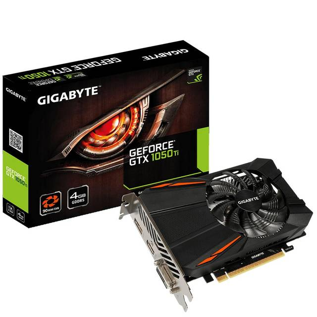 Gigabyte Technology GeForce GTX 1050 TI D5 4GB GDDR5 DVI/HDMI/DisplayPort PCI-Express Video Card