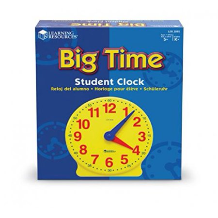 Learning Resources Big Time Student Clock (12 - Big Clock Rapper