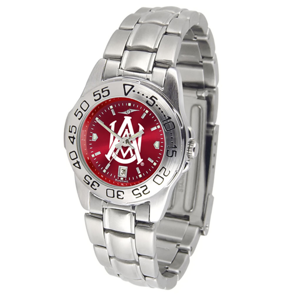 "Alabama A&M Bulldogs NCAA AnoChrome ""Sport"" Women's Watch (Metal Band)"
