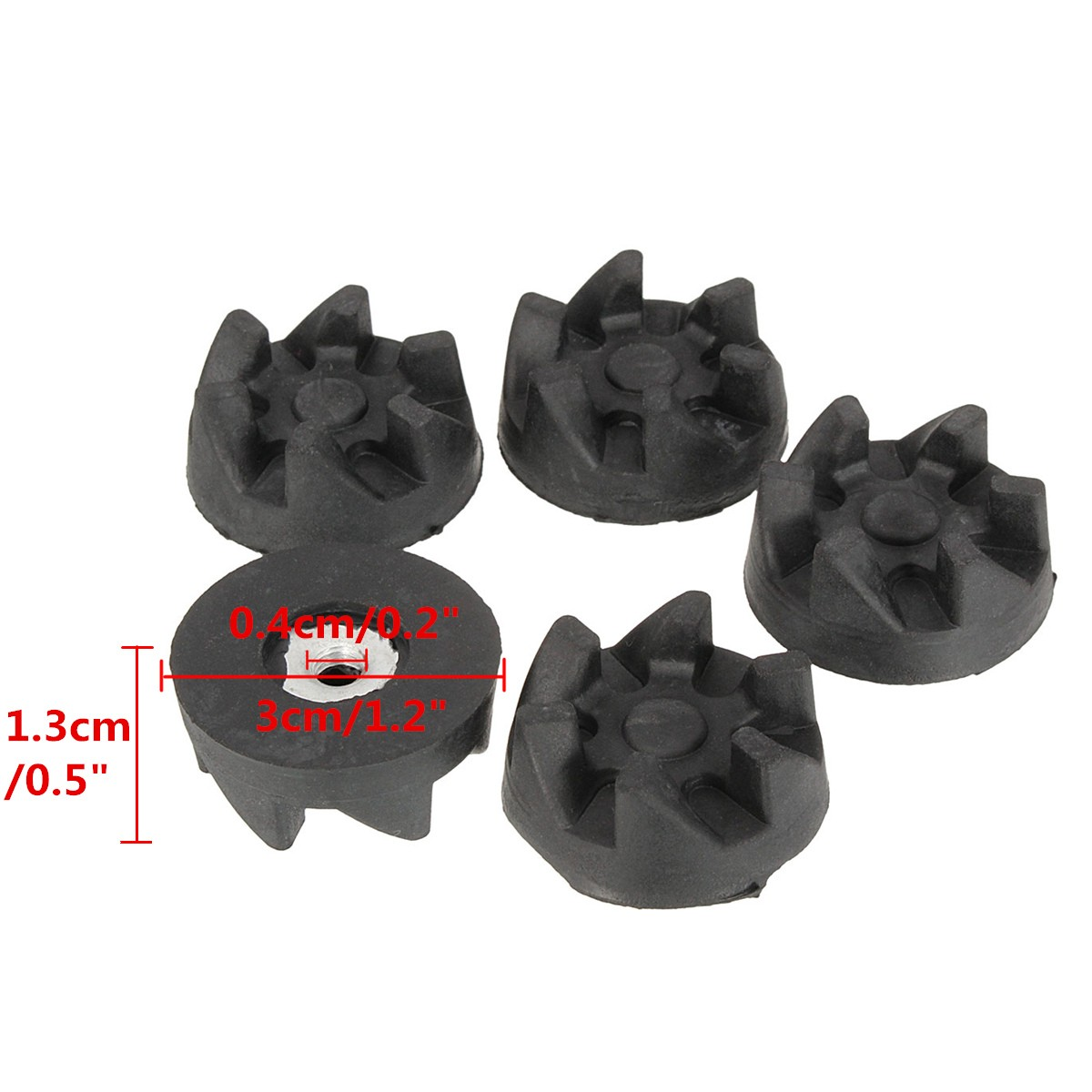 5Pcs 6Teeth Rubber Coupler Drive Kitchen Aid Clutch Gear Shear For Food Blender