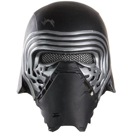 Kylo Ren 1/2 Helmet Adult Halloween Accessory - Half Scary Half Normal Halloween Makeup