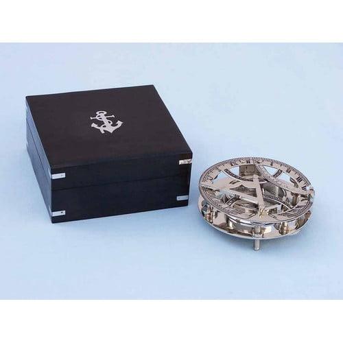 Handcrafted Nautical Decor Round Sundial Compass Sculpture