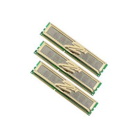 - OCZ Gold XTC Triple Channel Kit - DDR3 - 6 GB: 3 x 2 GB - DIMM 240-pin - 1600 MHz / PC3-12800 - CL8 - 1.65 V - unbuffered - non-ECC