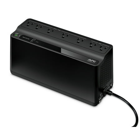 - APC Back-UPS 600VA UPS Battery Backup & Surge Protector with USB Charging Port (BE600M1)