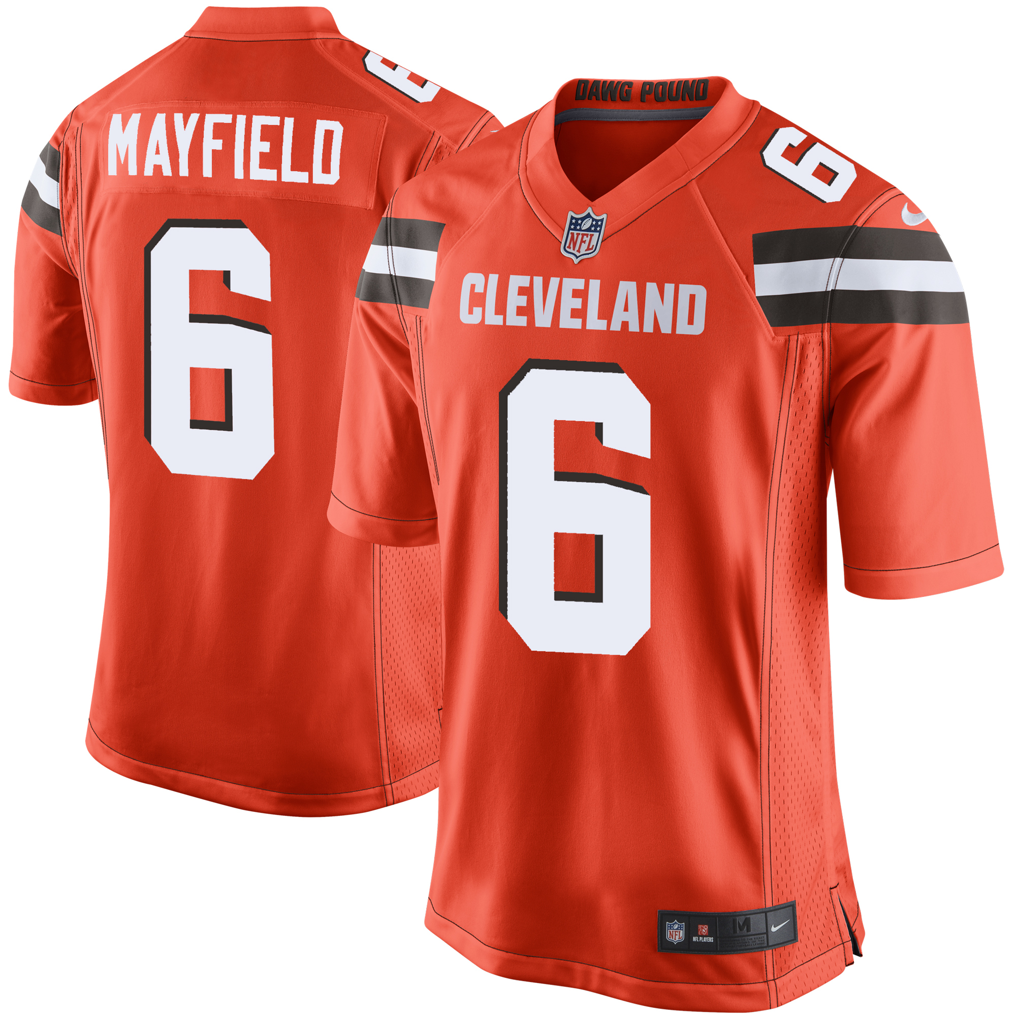hot sale online 7f65a 5fc9e Baker Mayfield Cleveland Browns Nike Game Jersey - Orange