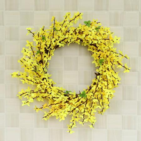 OkrayDirect Artificial Flower Leaf Wreath Wall Window Door Hanging Home Wedding Decoration