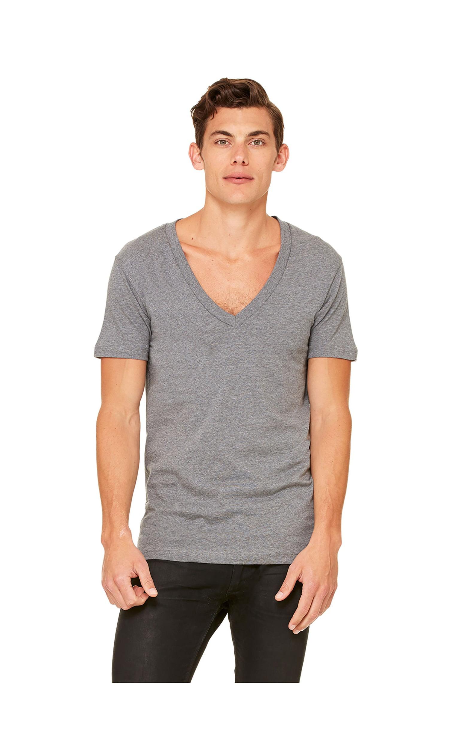 Canvas Unisex Jersey Deep V-Neck Short Sleeve T-Shirt