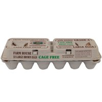 Farmhouse, Large Grade A Brown Eggs, 12 Count