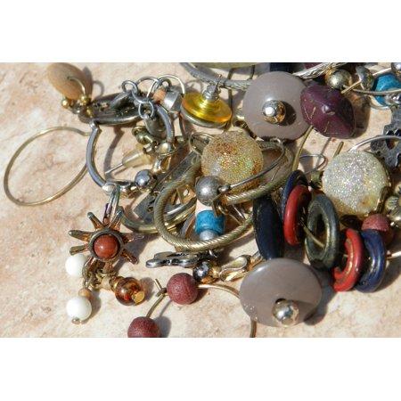 10 Gemstone - Canvas Print Fake Adornment Jewel Junk Jewelry Gem Necklace Stretched Canvas 10 x 14