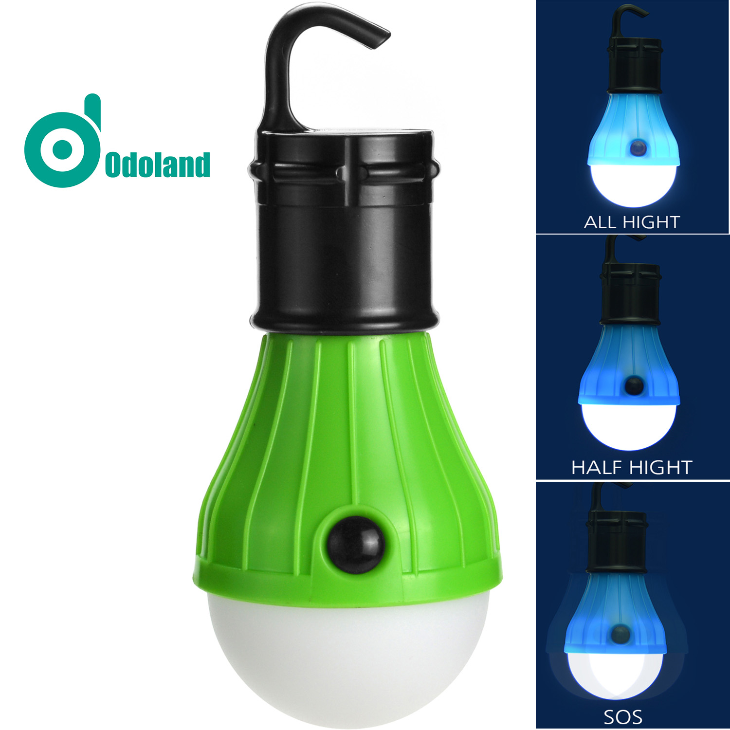 1PCS Hang LED Camp Tent Light Lamp Bulb Lantern for Camping Hiking Fishing Battery Powered