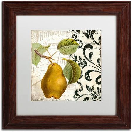 "Trademark Fine Art ""Les Fruits Jardin I"" Canvas Art by Color Bakery White Matte, Wood Frame"