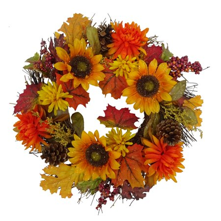 Sunflower Harvest Summer Fall Wreath