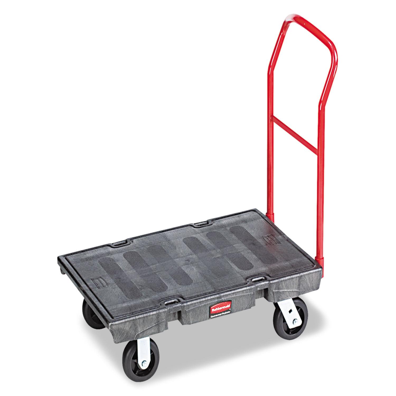 "Rubbermaid Commercial Heavy-Duty Platform Truck Cart, 2000 lb Capacity, 24"" x 48"" Platform, Black"