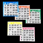 Bingo Paper Cards - 1 card - 5 sheets - 100 packs of 5 sheets - 500 cards