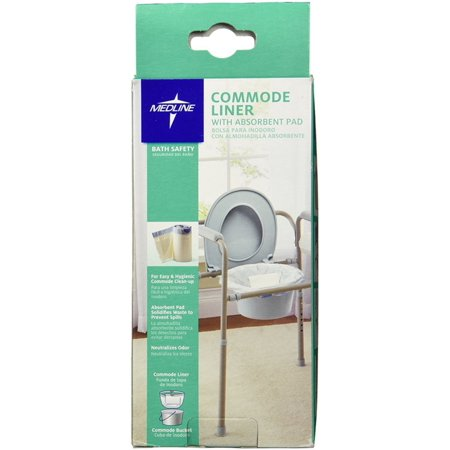Medline Commode Liner with Absorbent Pad 12 ea (Pack of 2) ()