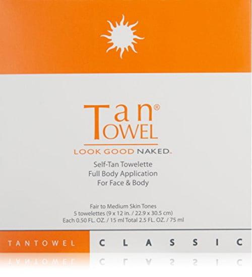 Tan Towel Self Tan Towelette Classic 5 Count, PACK OF 1