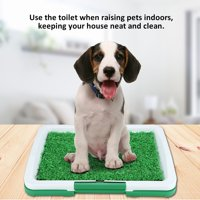 Hellan Dog Pet Potty Mat Grass Pad with Mesh+Collection Tray Home Indoor Restroom Toilet Pee Training, Pee Training, Pet Toilet
