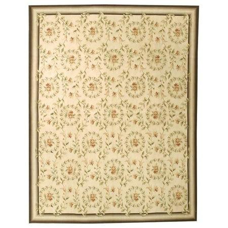 due process stable trading aubroueiv0den14sq 14 x 14 ft. aubusson rouen square area rug, ivory & denim