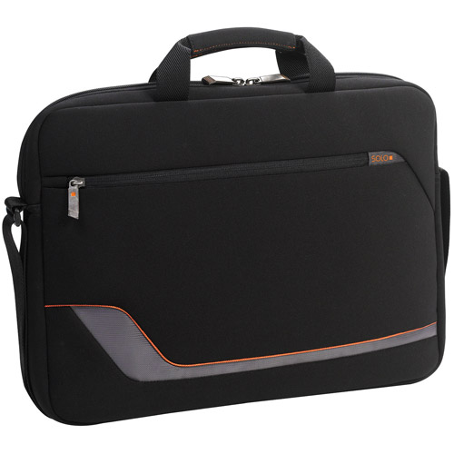 "Solo 17.3"" Laptop Slim Briefcase, Black"