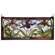 Meyda Tiffany - 22928 - Window - Lady Slippers - Zac Pbag Purple/Blue Xag-80pack